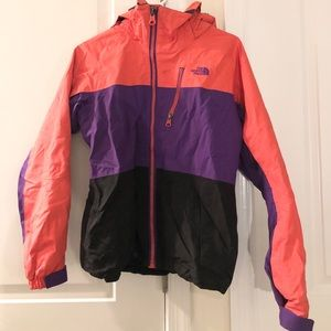Tricolor The North Face winter jacket